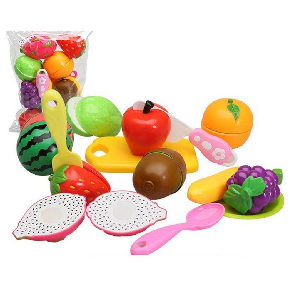 Küchenspielzeug Schneiden Weihnachtsgeschenk Spielzeugkunststoff Obst Pädagogisches Lernen Lebensmittel Rollenspieleeichhorn Kinderküche Gemüse CFZHANG