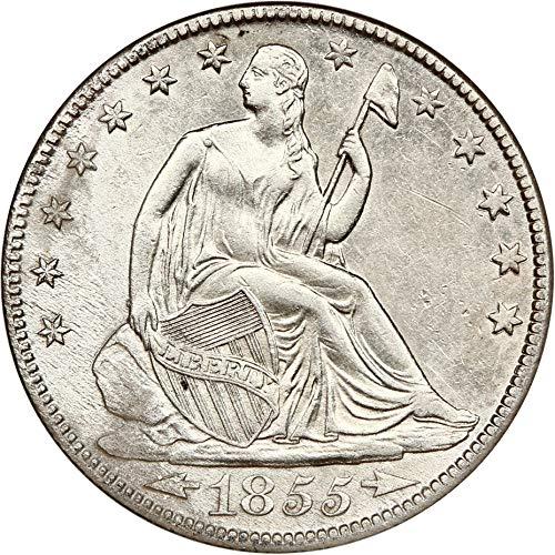 1855 O Liberty Seated Half Dollars Arrows Half Dollar AG0 NGC