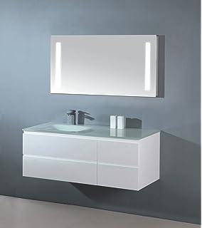 Badezimmermöbel weiß hochglanz  Amazon.de: Badmöbel Infinity 1000 weiss hochglanz