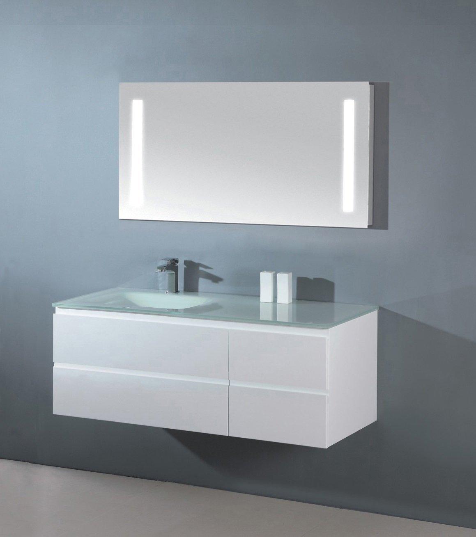 Beautiful Luxus Badezimmermöbel Badmöbel Bestehend Aus Unterschrank, Waschtisch Aus  Glas,und LED Spiegel Mit Beleuchtung (100 Cm): Amazon.de: Küche U0026 Haushalt Photo