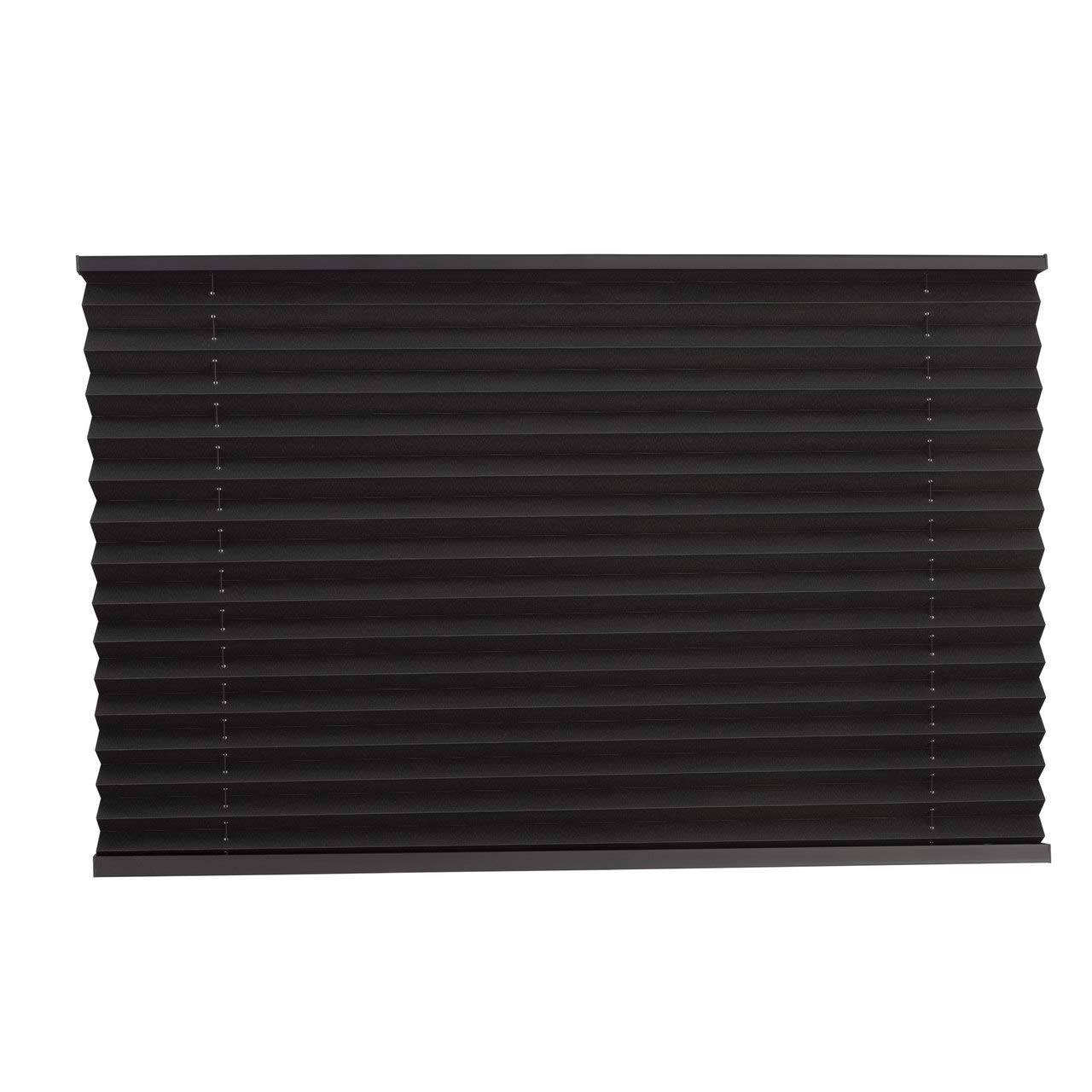 RecPro Pleated Shades in Black for RVs/Campers (74x50)