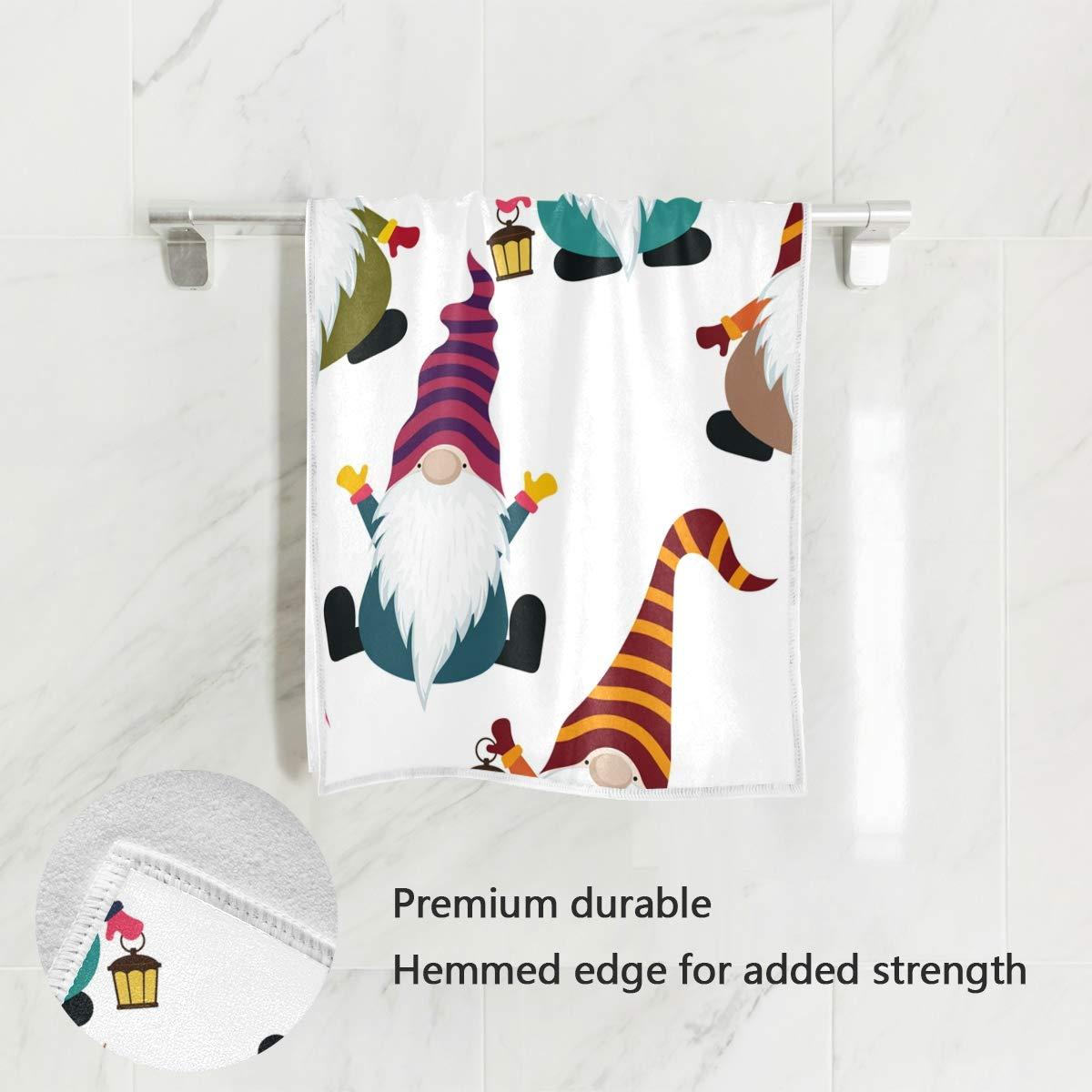 AHOMY Hand Towel Dish Towels Christmas Xmas Funny Gnomes Soft Face ...