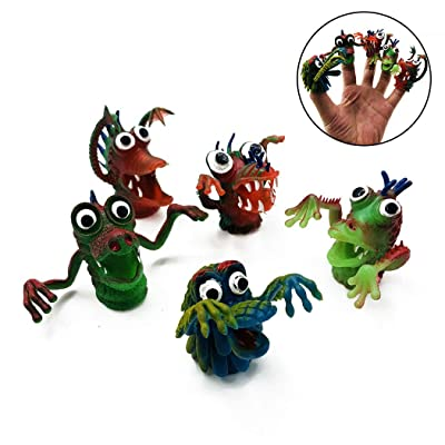 5PCS Finger Puppet Creative Artificial Finger Monster Finger Toy for Kids: Everything Else