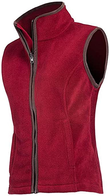 Large Baleno Womenss Womens Sarah Fleece Jacket-Wine Red