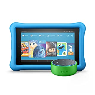 Echo Dot Kids Edition + Fire 7 Kids Edition (Green/Blue)