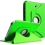 COOVY® Étui de prougeection avec rougeation 360° pour tablette SAMSUNG GALAXY NOTE 8.0 GT-N5100 GT-N5110 Smart Housse Coque Cover Case avec rabat/stand de positionnement Couleur vert