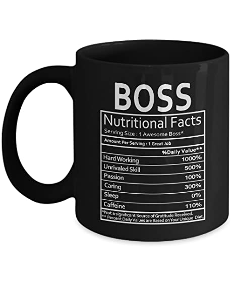 Amazon Boss Nutritional Facts Mug