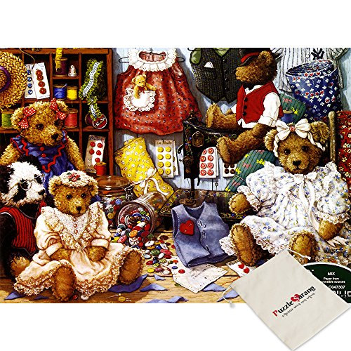 Puzzle Life,Teddy Bear Dress Room - 500 Piece Jigsaw Puzzle [Pouch - Teddy Jigsaw
