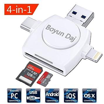 Amazon.com: Lector de tarjeta Micro SD 4-en-1, Boyun Daj TF ...