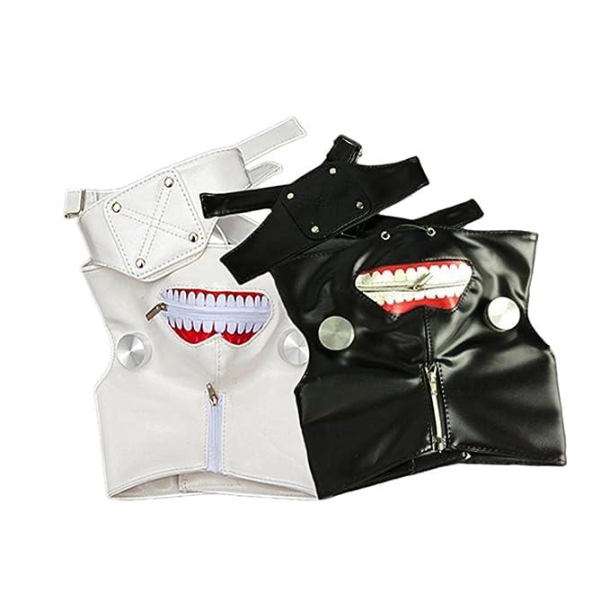 KOSBON paquete de 2 blanco y negro de Tokio Ghoul Kaneki Ken máscara ...