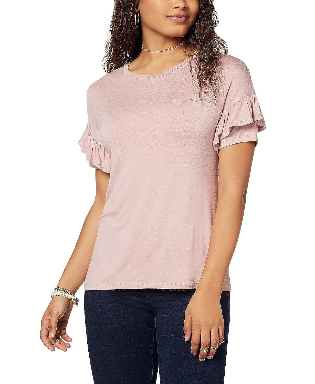 Ultra Flirt by Ikeddi Juniors Ruffle-Sleeved T-Shirt