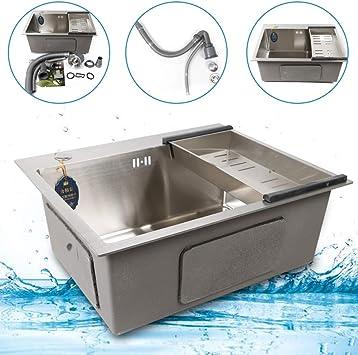 /Évier en acier inoxydable /évier simple /évier encastr/é /évier de cuisine /évier de cuisine avec drain 55x45cm