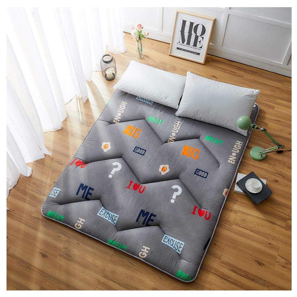 Mattress Student Dormitory Folding, Portable Thicken Pad Tatami Floor mat for Home Camping,Gray,C,100200/3979inch by Mattress