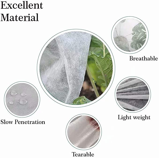 Garden Fabric Plant Cover Outdoor Frost Protection Blanket Winter Cold Frost