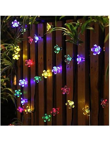 7bea7bf10e6 Panpany Luces Decorativas 22 Pies (50 Luces Led) Luces Solares Exterior  Lamparas led Decoración