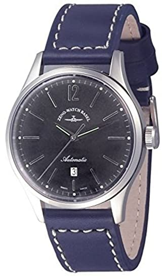 Zeno-Watch Reloj Mujer - Event Gentleman Automática 43 blue - 6564-2824-
