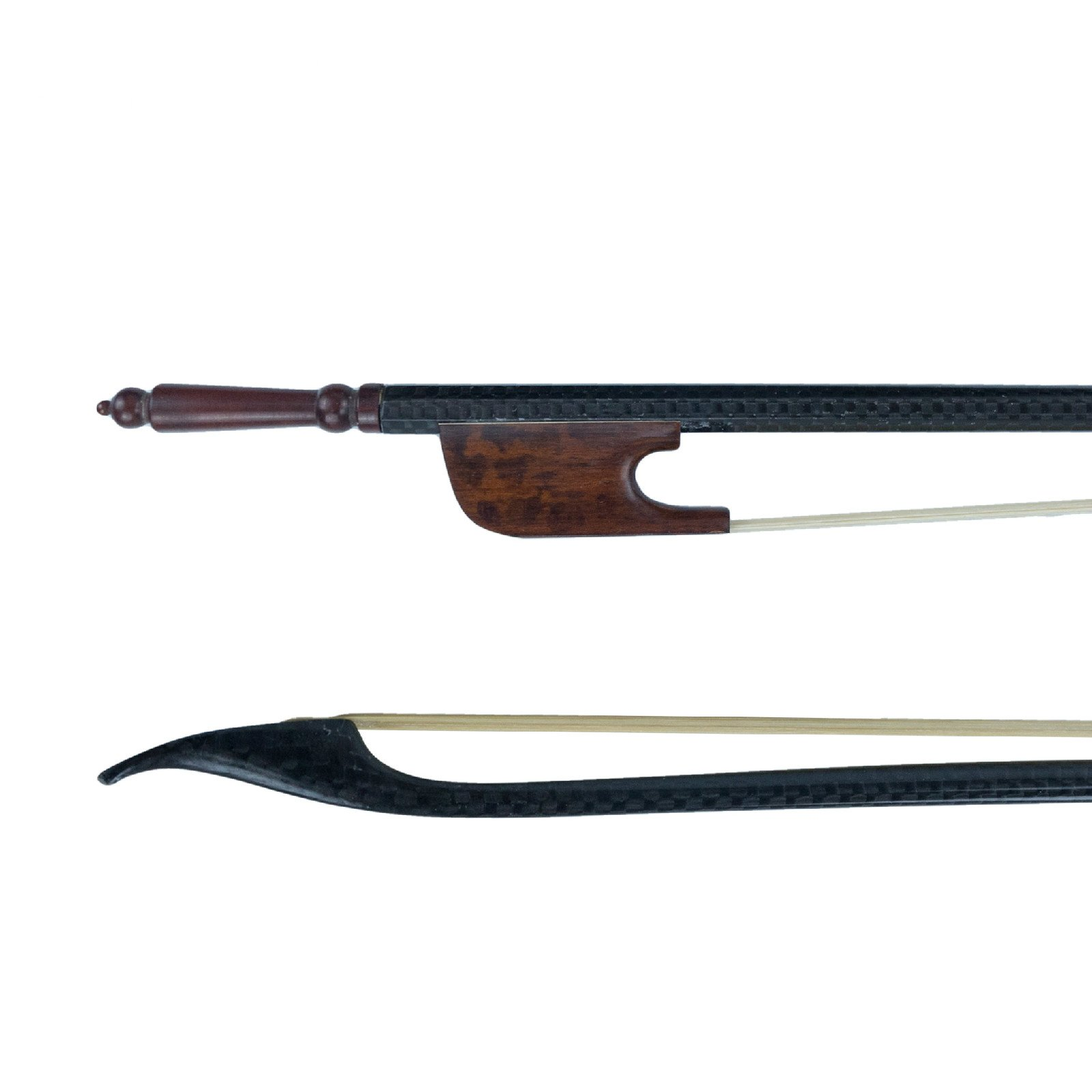 NAOMI 4/4 Carbon Fiber Double Bass Bow Baroque Bow Real Mongolia Horse Hair Snake Wood Frog Violin Accessories
