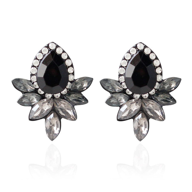 47fe761d8699 Dana Carrie Adornos de oreja y elegante en blanco y negro taladro de agua  multi nivel