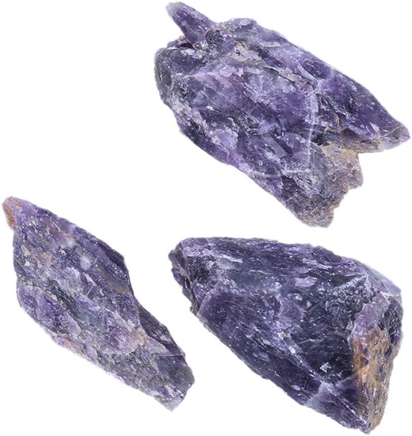 SparY Piedra Cristal, 50g Especimen Gravilla Amatista Punto Vara Mineral Cortina Natural Lila Cuarzo Roca Pecera Pulseras Handicrafts Decoración Hogar - 50g / Pack, Free Size