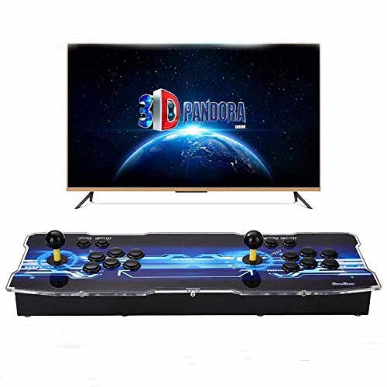 Spmywin 3D Pandora Box Arcade Video Game Console 1080P Game System Supports Alphabet Search Function User Add Games Function Advanced CPU