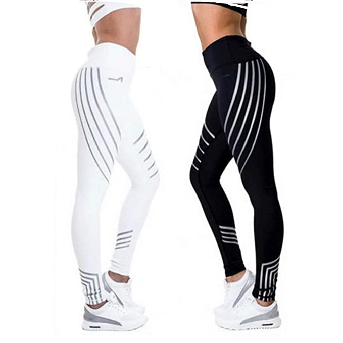 9bb6af1743d7a1 Women Sports Pants Sexy Skinny Patchwork Gym Workout Training Yoga Leggings  Running Trousers Black,S