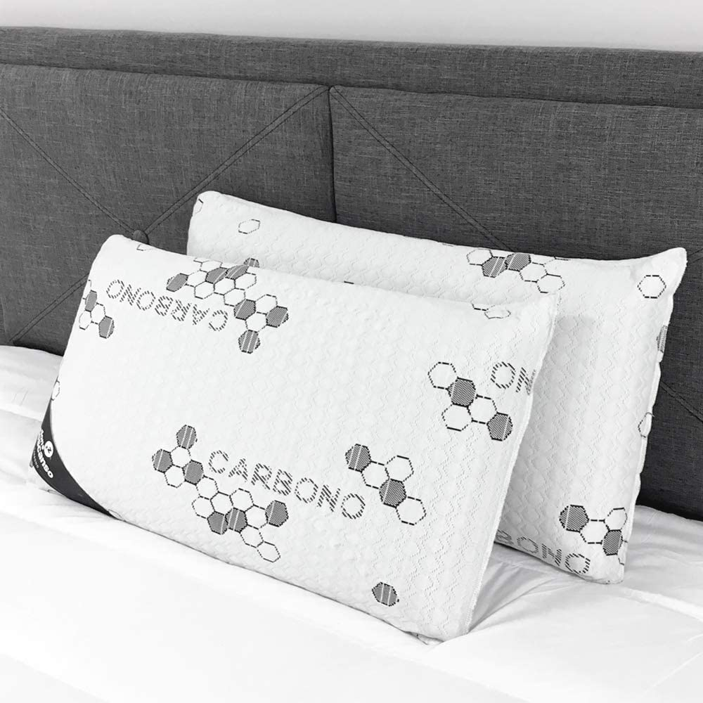Don Descanso Pack 2 Almohadas de Carbono Activo con Copos ...