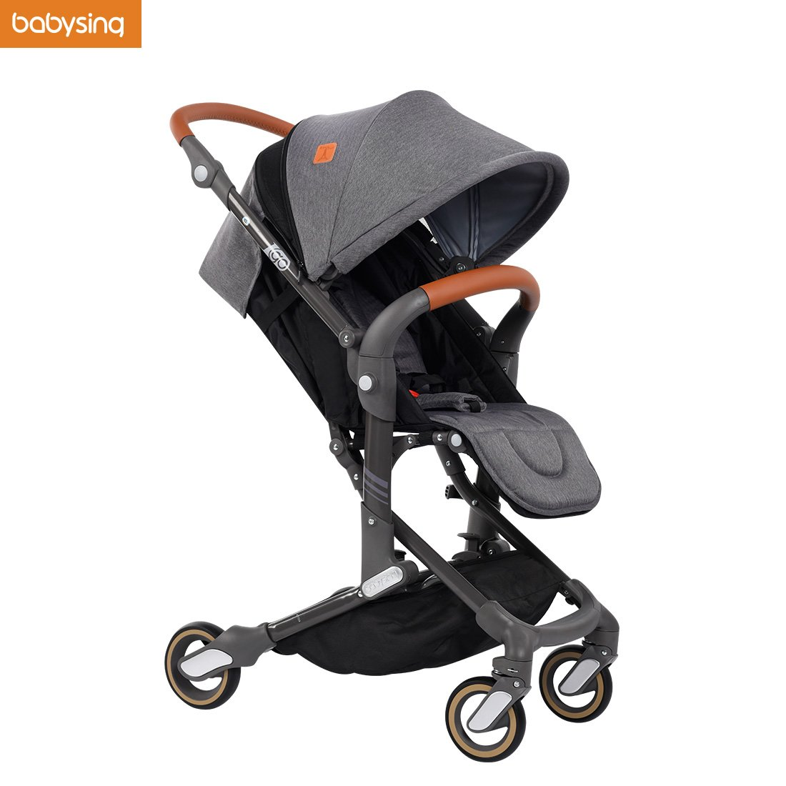 Babysing High View Lightweight Deluxe Convenience Stroller(Grey)