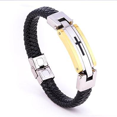 Amazon.com: Licemya Bracelet for Men Fashion Jewelry Stainless Steel ...