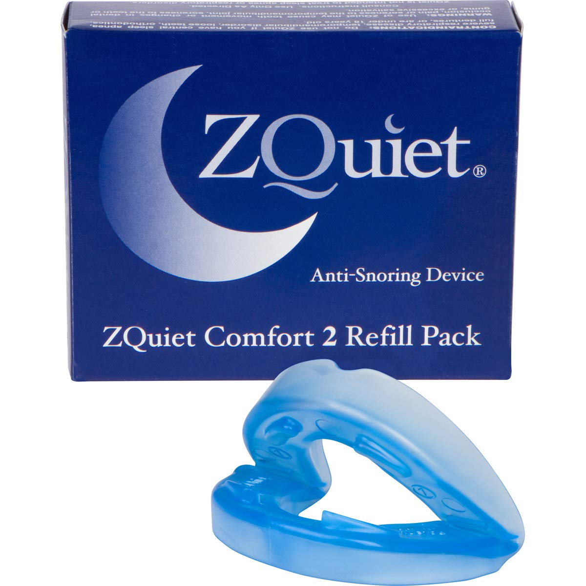 ZQuiet® Anti-Snoring Device, Size: Comfort 2 (+6mm) Mouthpiece, Refill ONLY (Try Starter Kit First to Ensure This is Your Optimal Size)
