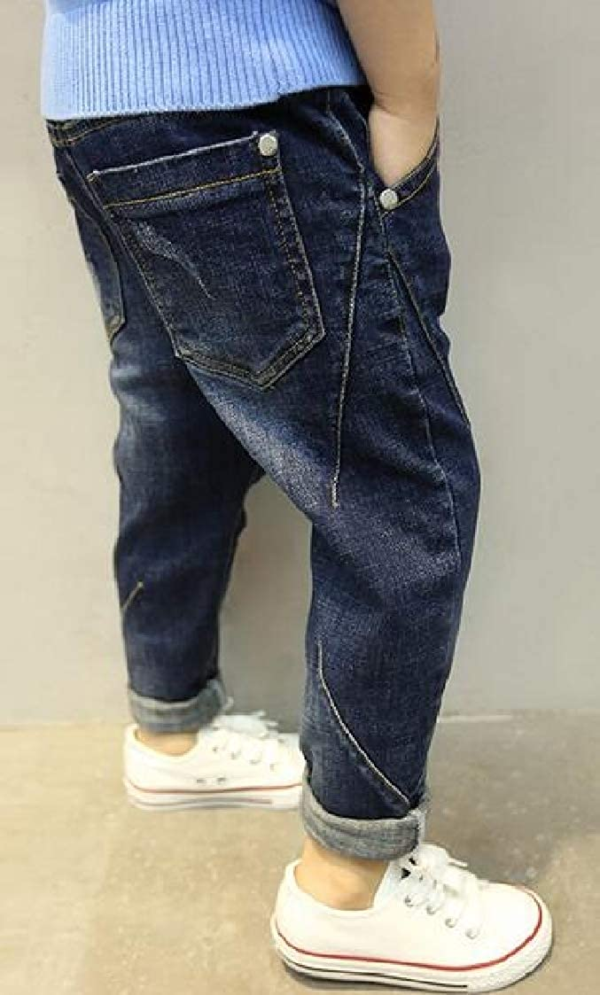 Pandapang Boy Denim Casual Cozy Pants Washed Hole Jeas