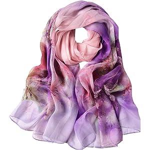 Morgan /& Oates Silk Scarf Pink /& Grey Tie Dye Pattern Ladies Wrap Pashmina