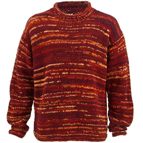 LOUDelephant - Pull - Homme rouge Red & Orange Space Dye taille unique