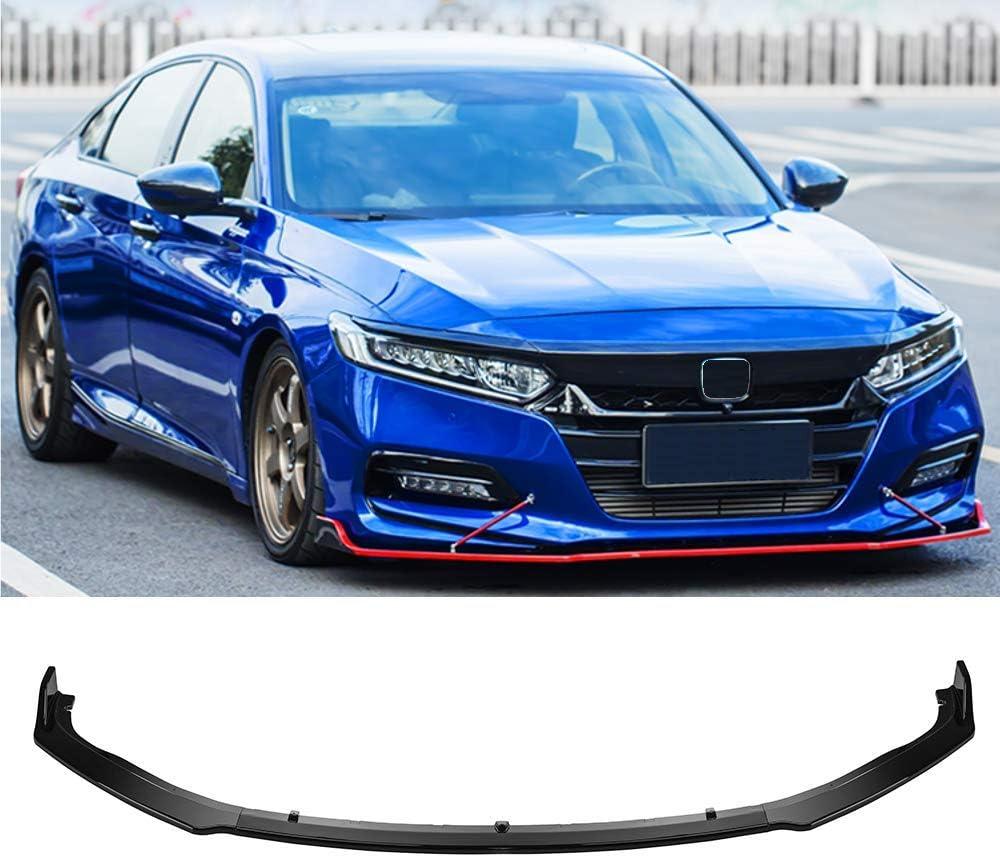 4PCS Front Bumper Lip Splitter Spoiler Wing For 2018 2019 Honda Accord 10th
