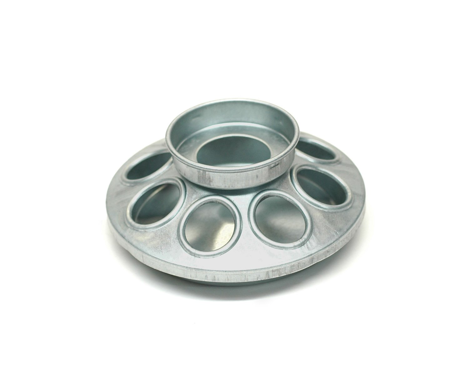 Brower MJ9 8-Hole Galvanized Mason Jar Feeder for Chicks and Small Birds by Brower