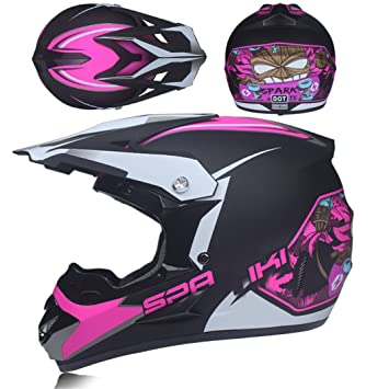 MATEROP Casco de la Motocicleta Motocicleta Protectora de Capacete para Mujeres y Hombres Cascos de Motocross