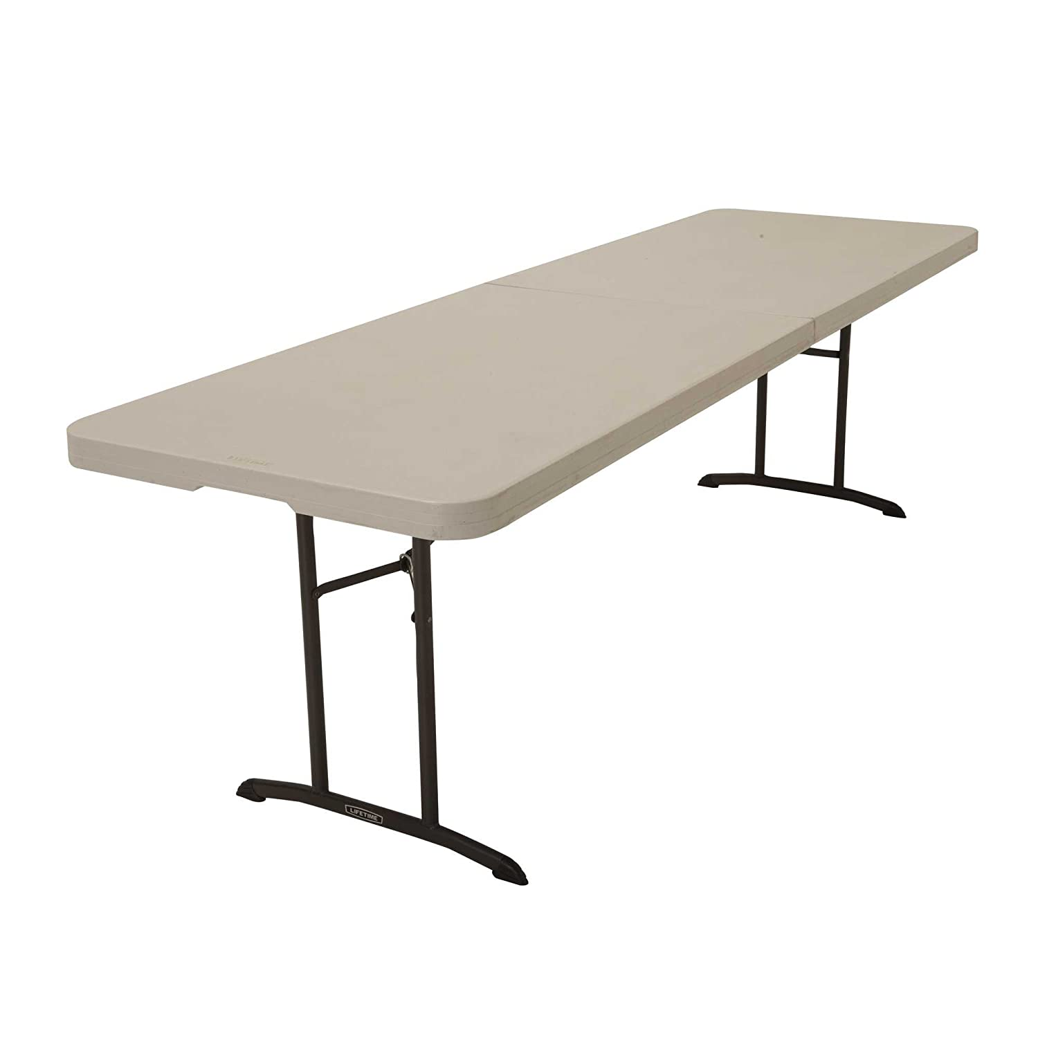 Merveilleux Amazon.com: Lifetime 80175 Fold In Half Banquet Table, 8 Feet, Almond:  Garden U0026 Outdoor
