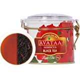 Avataa Hibiscus Black Tea: High Grown Ceylon Tea with Dehydrated Hibiscus Flowers (50 Gram/25 Cups)
