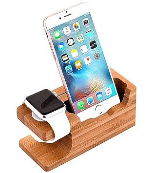 amazon apple watchスタンド aicase iwatch竹木製充電ドック充電