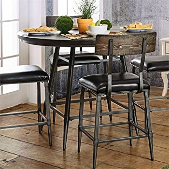 Furniture Of America Haliana Round Counter Height Dining Table