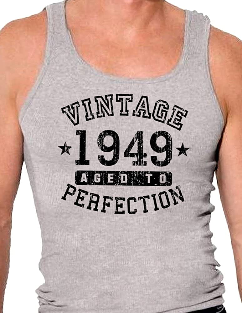 TooLoud 1949 Vintage Birth Year Mens Ribbed Tank Top Brand