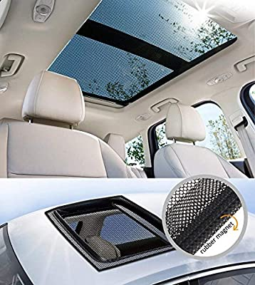 Car sunroof Window Screen Mesh Net PVC strips, Magnetic Strip, fiberglass mesh Magnetic Screen Door Kittymouse Anti Mosquito Bug Insect Fly (BLACK)