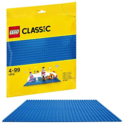 LEGO Classic Blue Baseplate 10714: Toys & Games