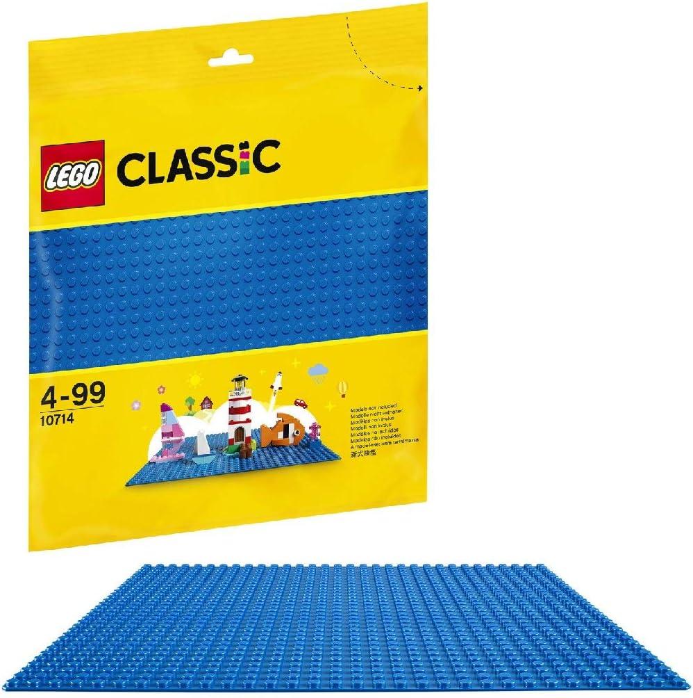 LEGO Classic - Base Azul de Juguete de Construcción de 25 cm de Lado para Juegos Creativos y Educativos como Complemento a tus Sets (10714)