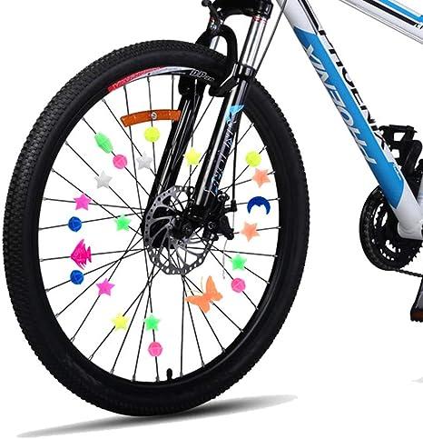 Enfants Color/ée Bicyclette de Roue D/écoration V/élo Clip Deco pour Fille Garcons Lumineux TriLance Bicycle Spoke D/écoration Color/é V/élo Rayons Clips Perles pour Enfants Filles V/élo