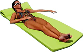 "product image for Texas Recreation Sunsation Swimming Foam Pool Floating Mattress, Lime, 1.75"" Thick"