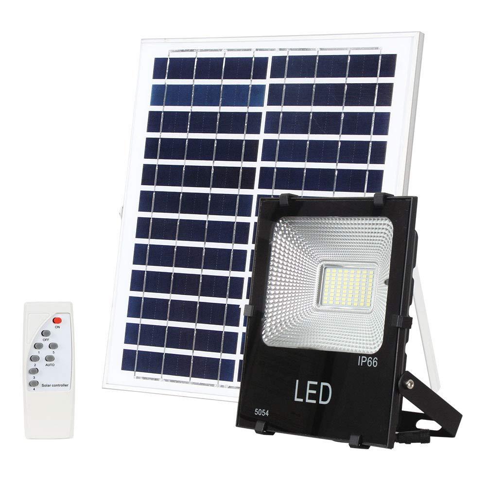 Wnglei Luce di Via di Telecomando a LED Luce di Via Solare Esterna Impermeabile LED Luce di inondazione 25W   40W   60W100W Luce di Giardino ad Alta luminosità (Dimensione   60W)
