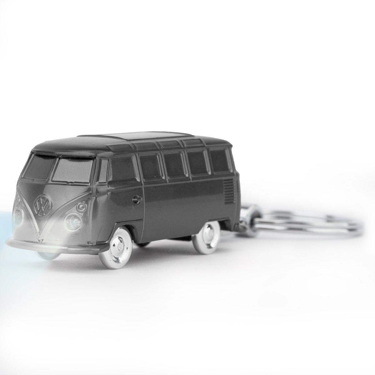 VW Bulli LED-Schlü sselanhä nger Auto Kult (1962), grau, mit Licht, Kyechain Oramics