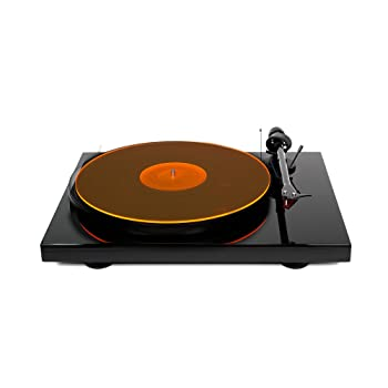 Acrylic Turntable Mat – OrangeLit – LP Slipmat