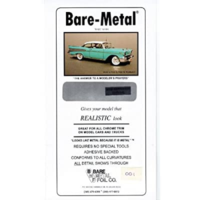 Chrome Bare-Metal Foil Model Car Truck Kit Adhesive by Bare Metal Foil: Toys & Games