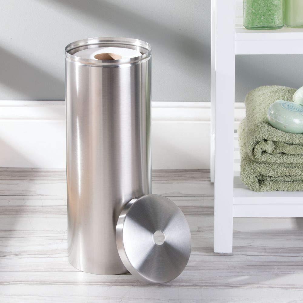 InterDesign - Forma - Lata para almacenar papel higiénico - Acero inoxidable pulido: Amazon.es: Hogar